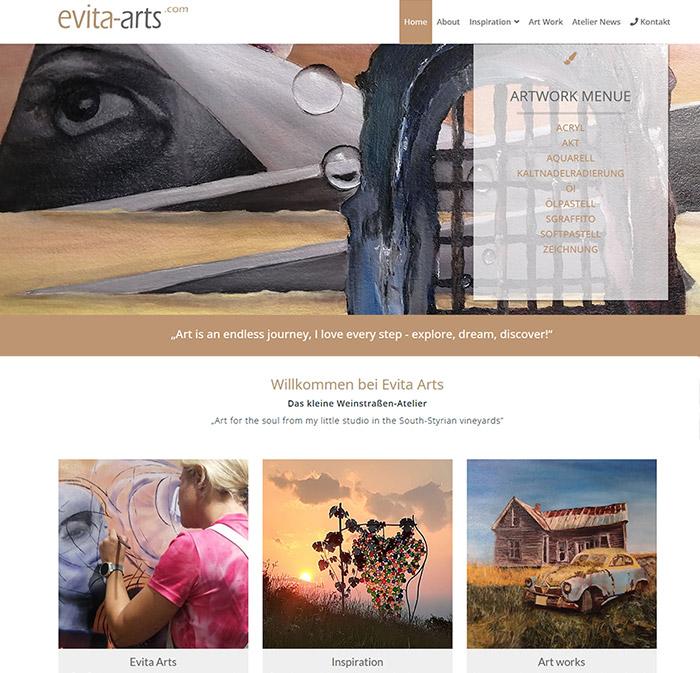 Evita Arts, Künstlerin